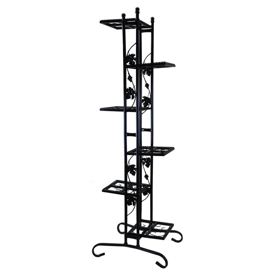 Oakland Living 64.5-in Black Rectangular Wrought Iron Plant Stand