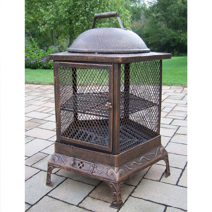 Oakland Living 24-in W Antique Bronze Cast Iron Wood-Burning Fire Pit