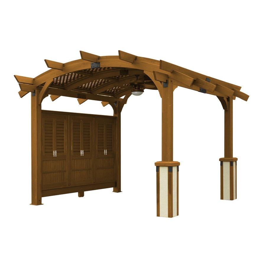 Outdoor Greatroom Company Sonoma 151-in W x 185-in L x 112-in Redwood Freestanding Pergola