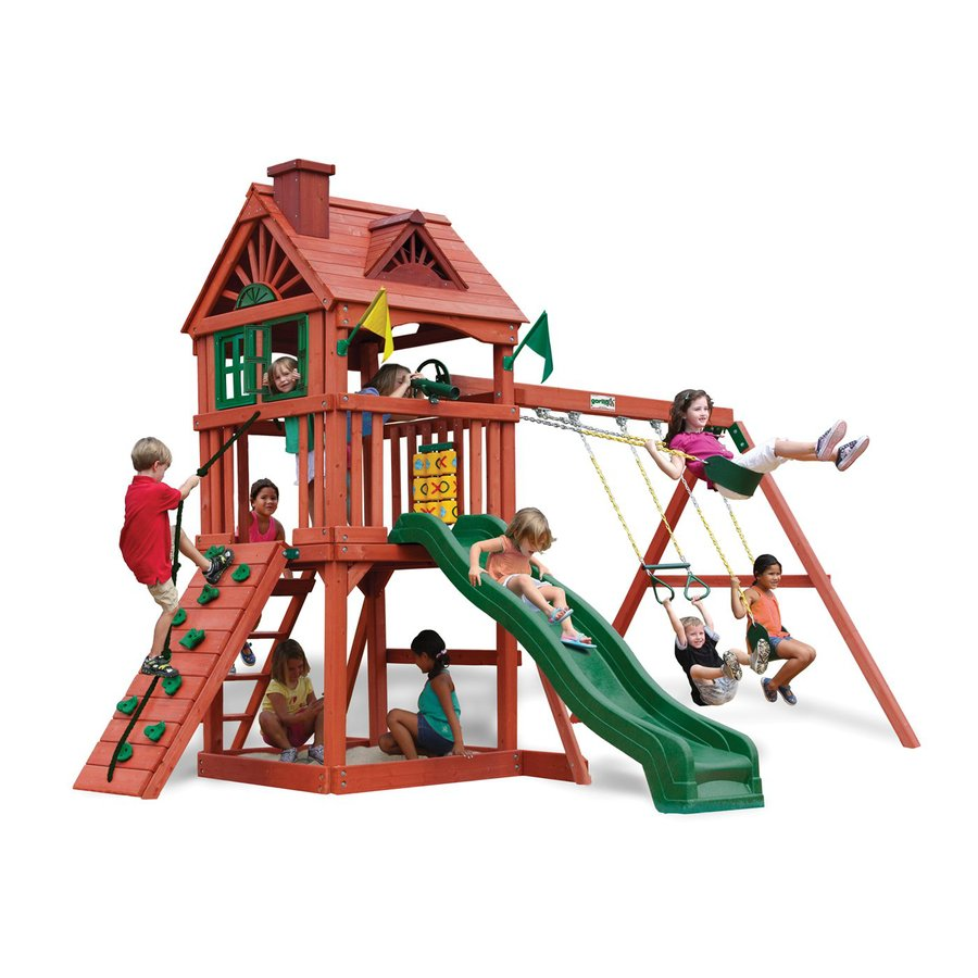 Gorilla Playsets Nantucket Residential Wood Playset with Swings