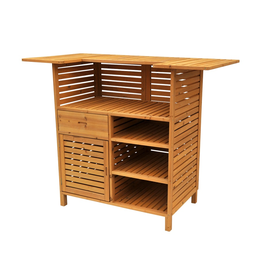 Leisure Season 27-in W x 54-in L Rectangle Cunninghamia Wood Bar Table