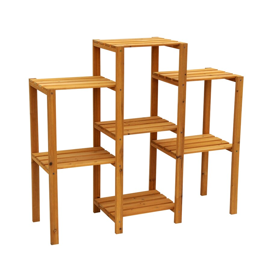 Leisure Season 34-in Natural Wood Plant Stand