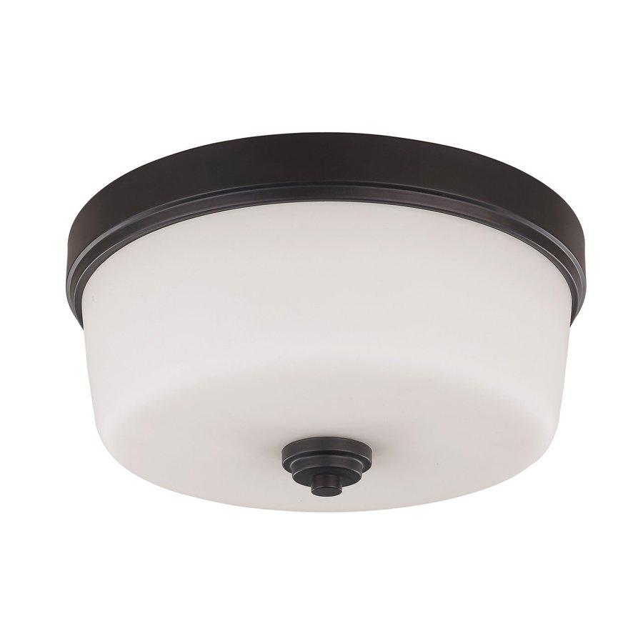 w oil rubbed bronze ceiling flush mount light at. Black Bedroom Furniture Sets. Home Design Ideas