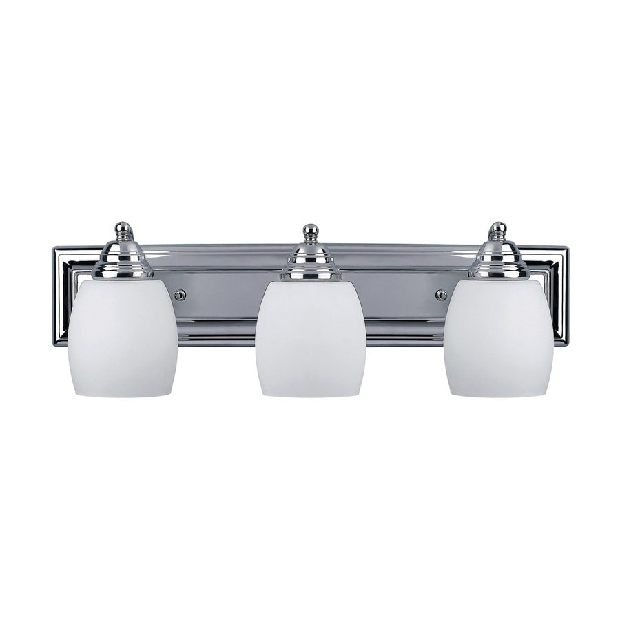 shop canarm 3 light griffin chrome bathroom vanity light