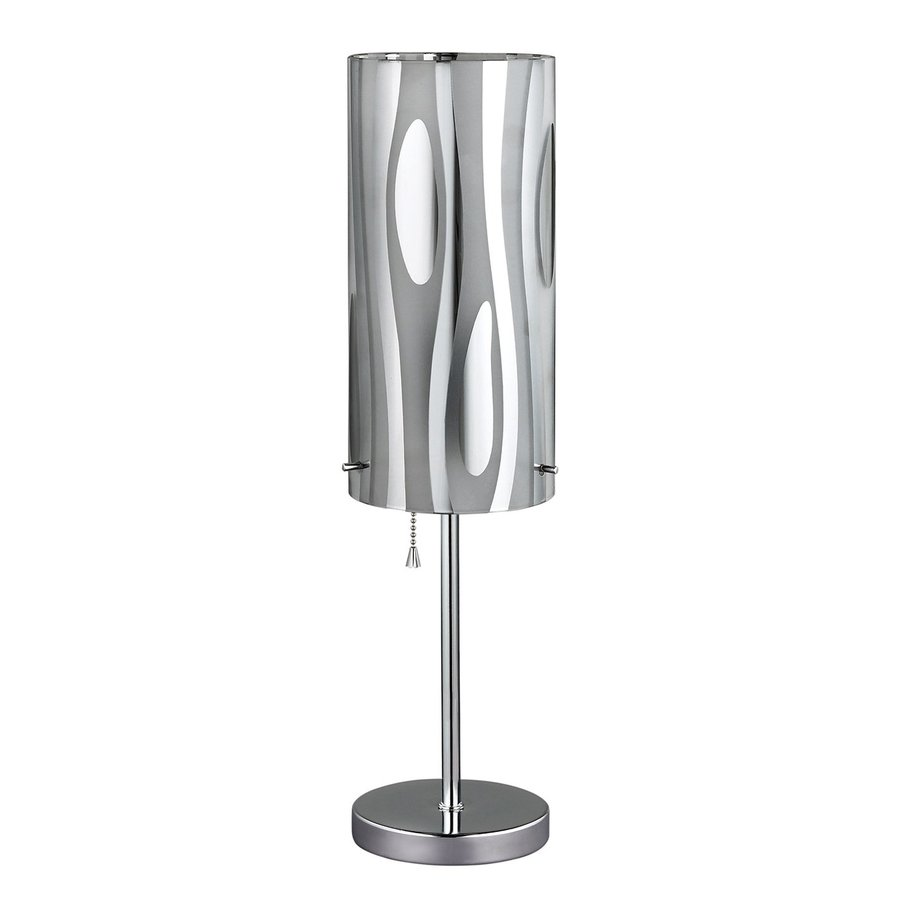 Canarm Cloe 18-in Chrome Indoor Table Lamp with Metal Shade