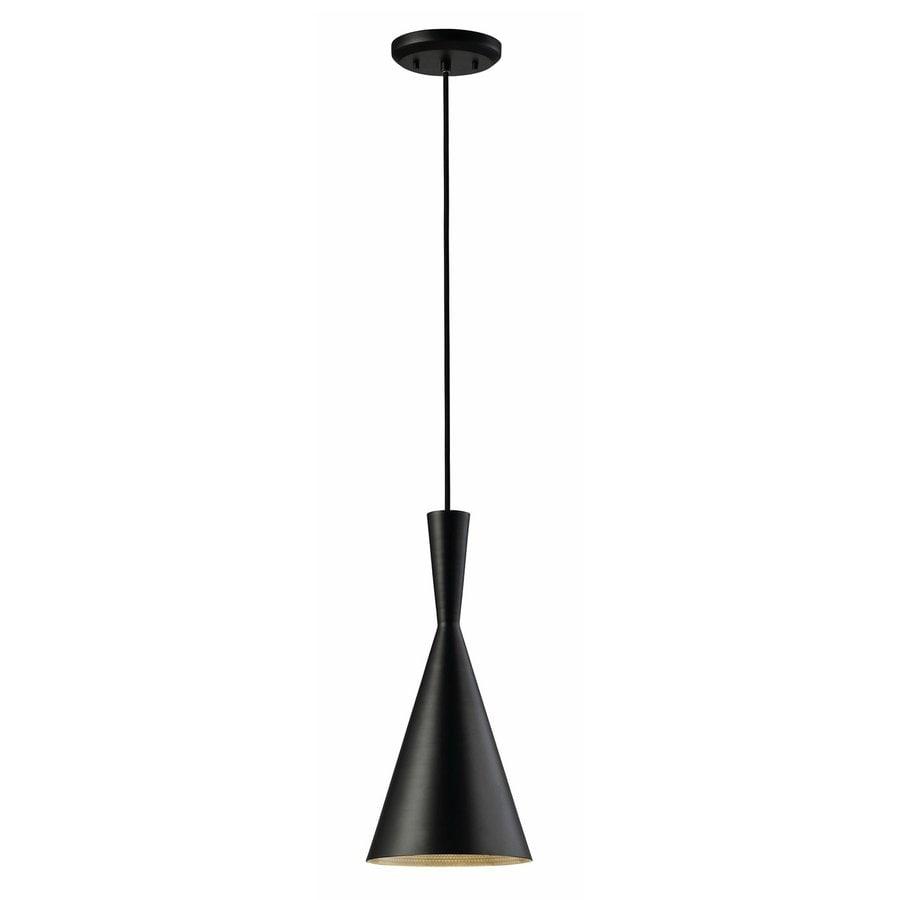 Canarm Rocco 7.25-in Black Industrial Mini Cone Pendant