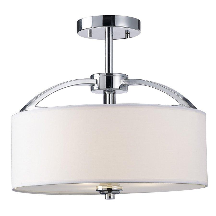 Canarm Milano 14.25-in W Chrome Fabric Semi-Flush Mount Light