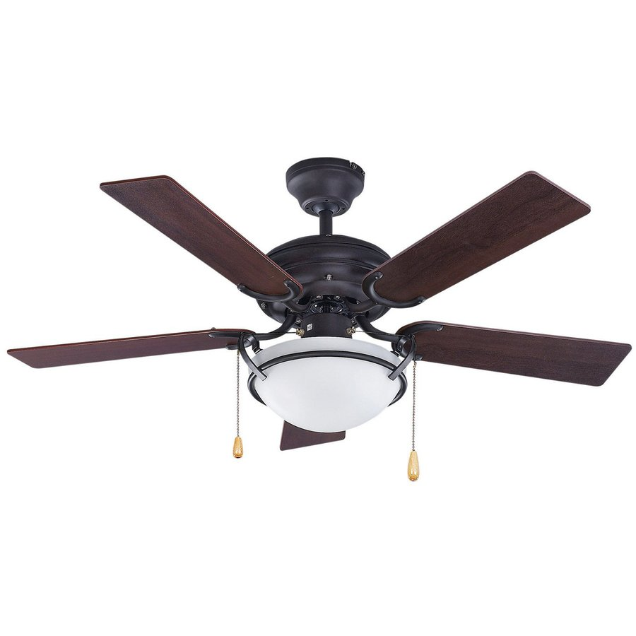 Shop canarm 42 in oil rubbed bronze downrod mount indoor ceiling fan with light kit 5 blade at - Shopping ceiling fans ...