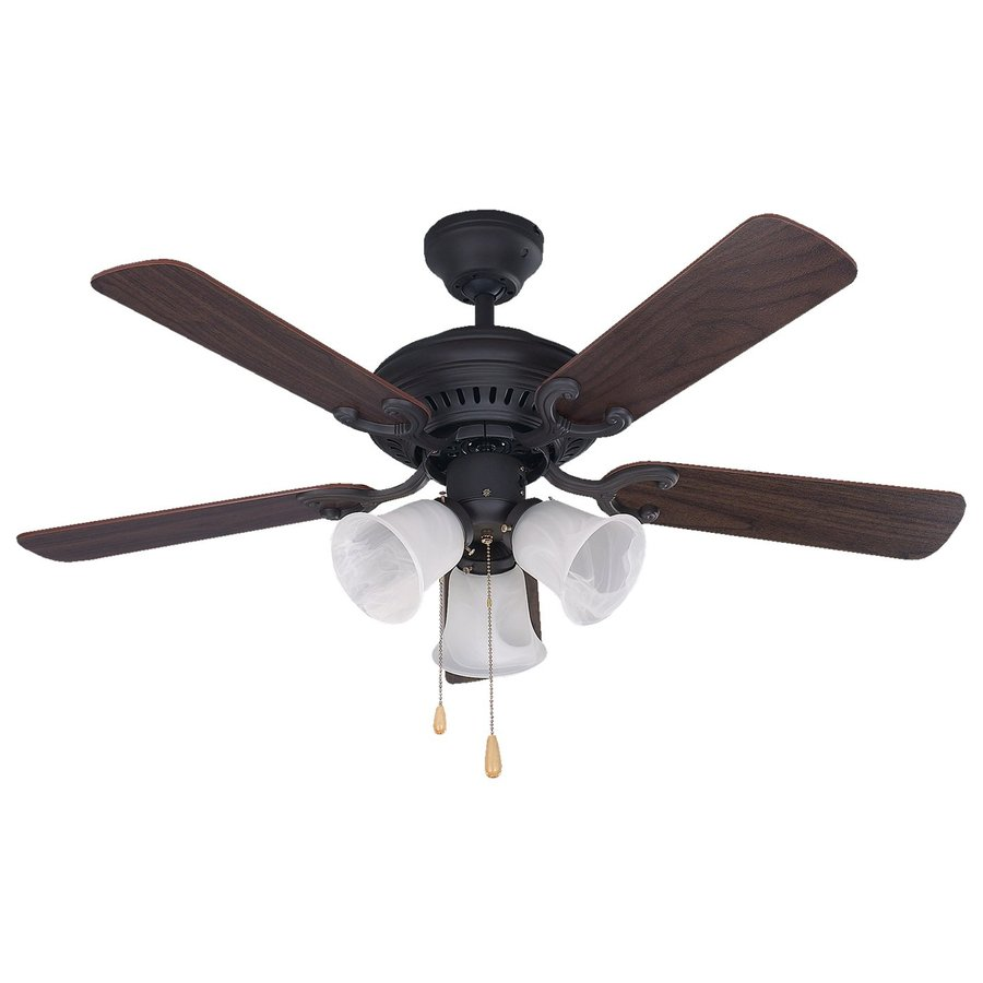 Canarm Seville 42-in Oil Rubbed Bronze Downrod Mount Indoor Ceiling Fan with Light Kit (5-Blade)