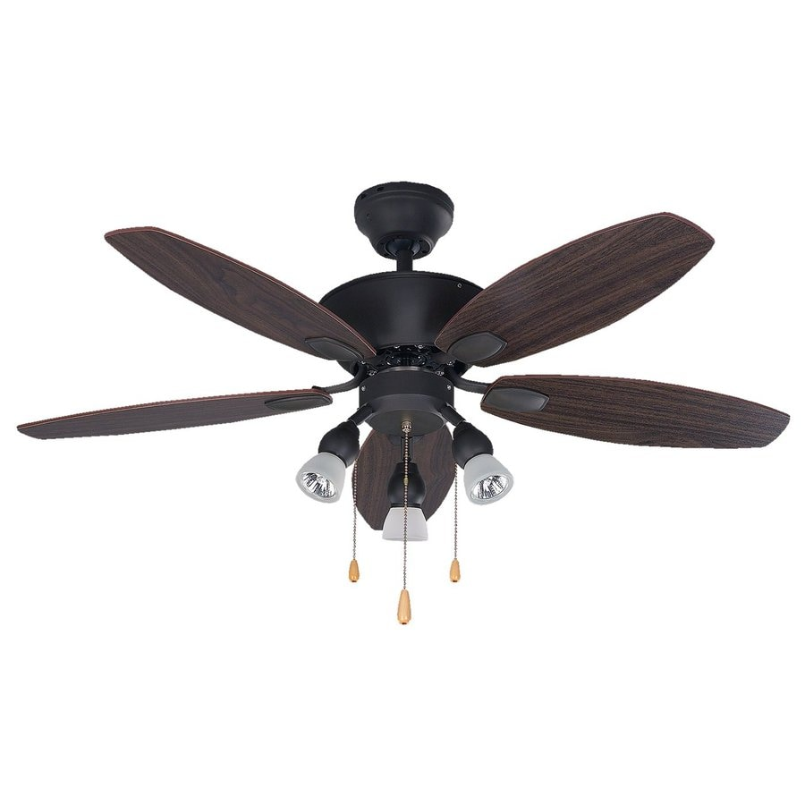 Canarm Lexington 42-in Oil Rubbed Bronze Downrod Mount Indoor Ceiling Fan with Light Kit (5-Blade)