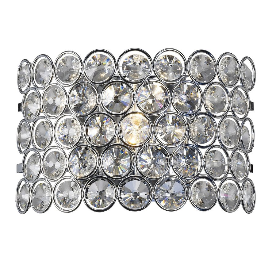 Canarm Alice 11-in W 1-Light Chrome Crystal Pocket Hardwired Wall Sconce