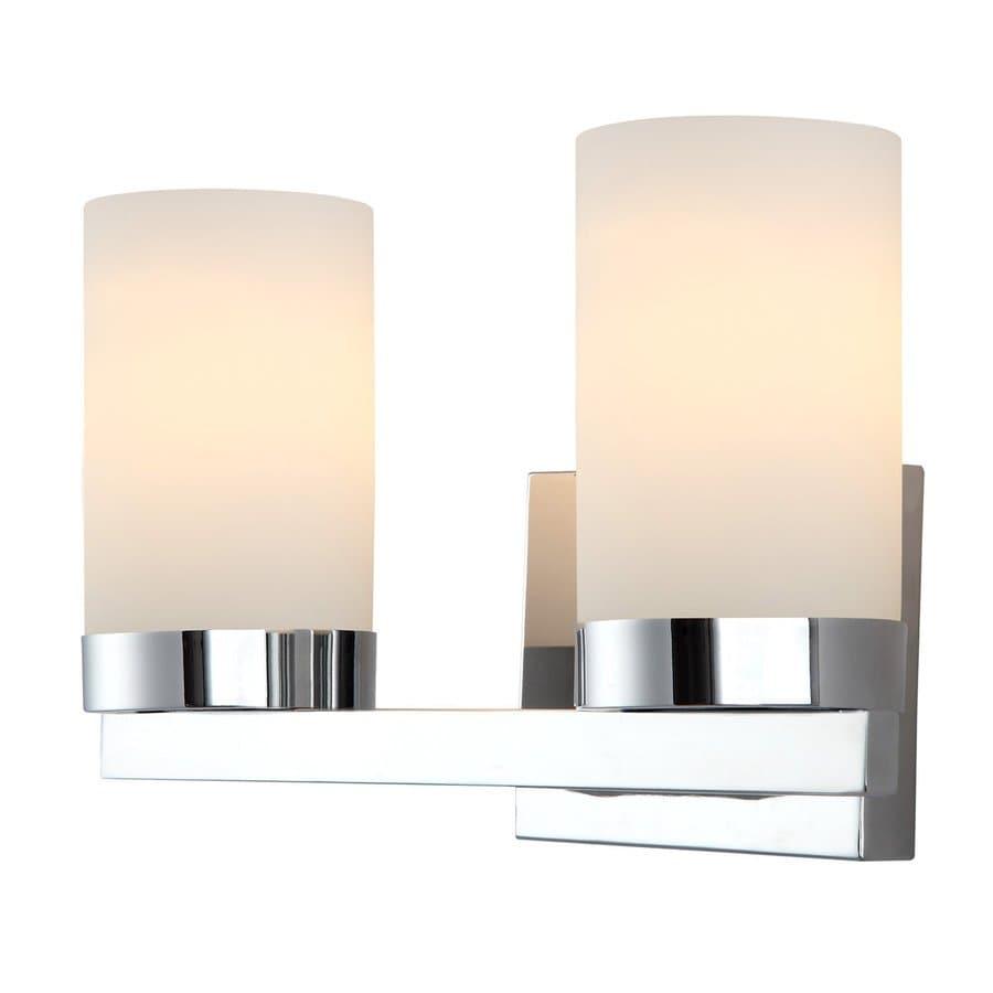 Canarm 2-Light Milo Chrome Bathroom Vanity Light