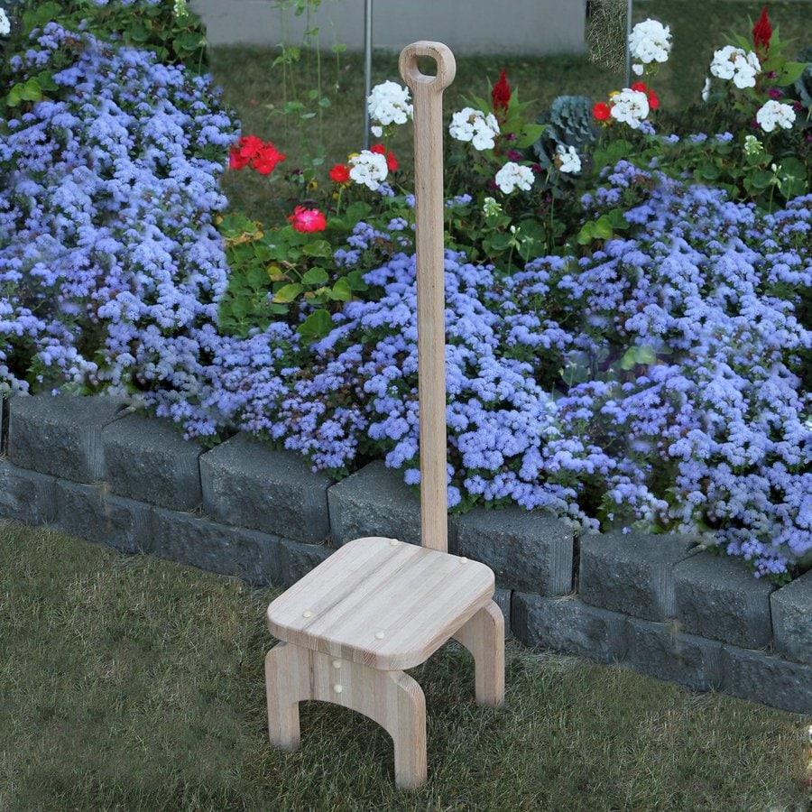 Prairie Leisure Design 1-Step Brown Wood Step Stool