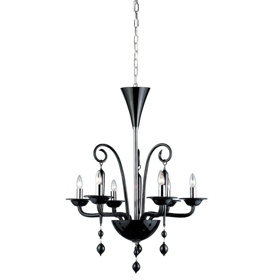 Eurofase Everesty 28.75-in 6-Light Chrome Candle Chandelier
