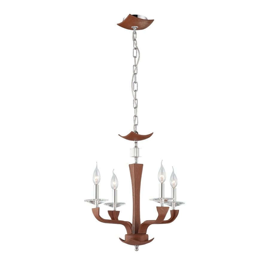 Eurofase Pella 19.75-in 4-Light Brown Candle Chandelier