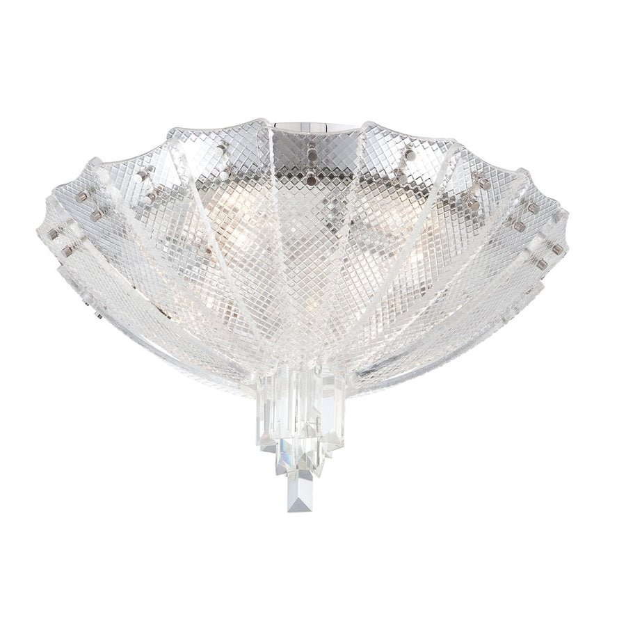 Eurofase Swan 18.25-in W Chrome Ceiling Flush Mount Light