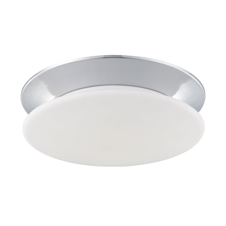 Eurofase Crown 14.25-in W Chrome Ceiling Flush Mount Light