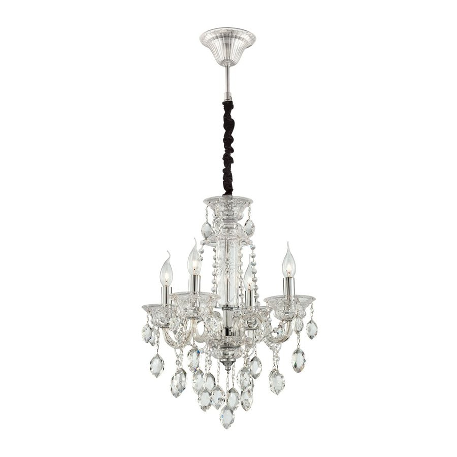 Shop eurofase venetian 4 light clear crystal Crystal candle chandelier