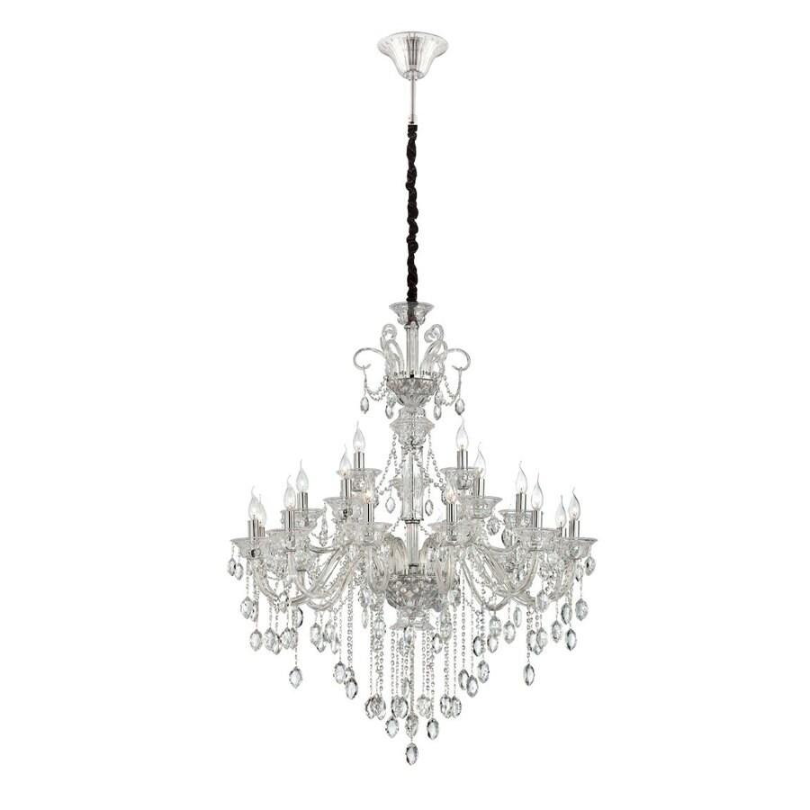 Eurofase Venetian 40.25-in 21-Light Clear Crystal Tiered Chandelier