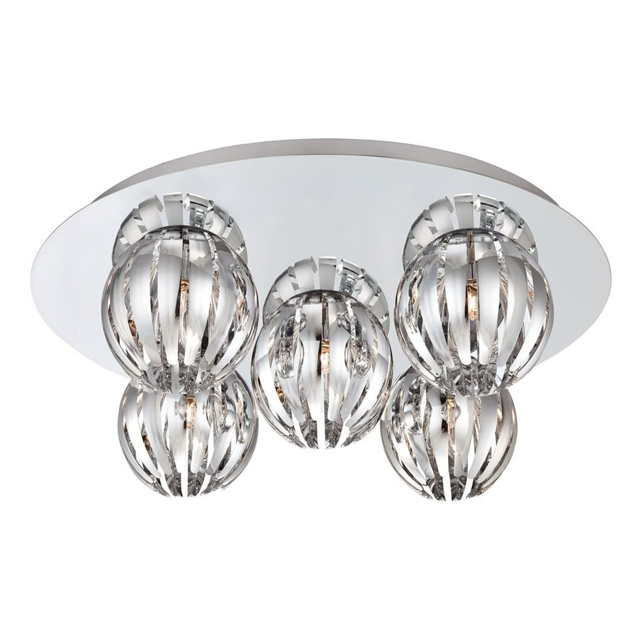 Eurofase Cosmo 17.75-in W Chrome Ceiling Flush Mount Light