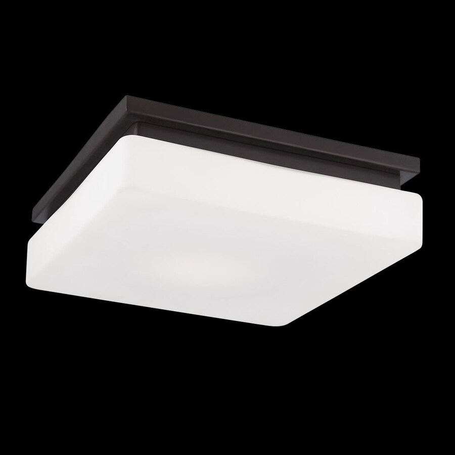 Eurofase Ellsworth 11.5-in W Bronze LED Ceiling Flush Mount Light