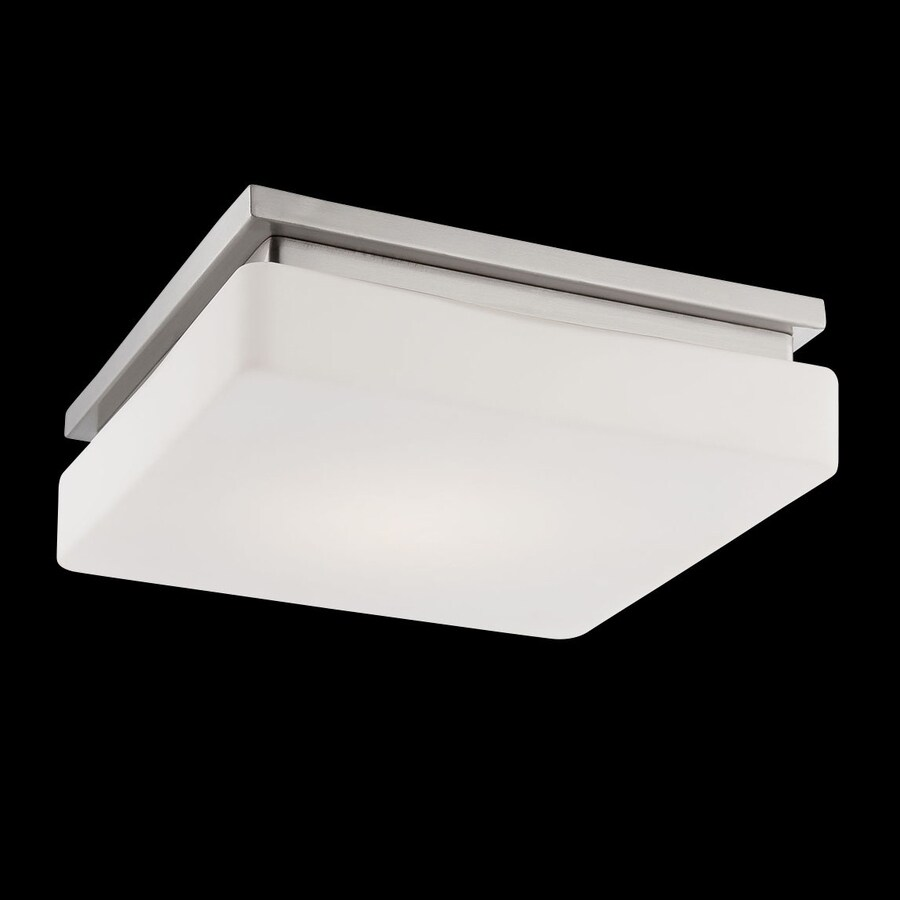 Eurofase Ellsworth 11.5-in W Satin Nickel LED Ceiling Flush Mount Light