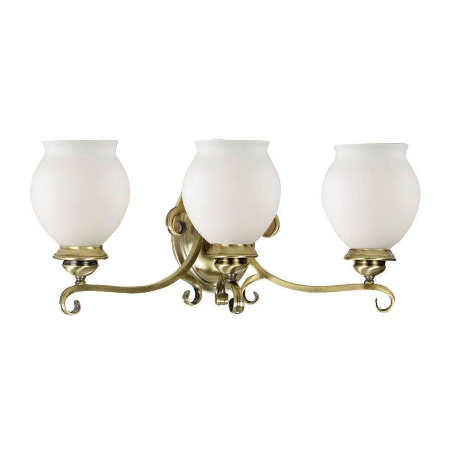 Eurofase 3-Light Beatrice Antique Brass Bathroom Vanity Light