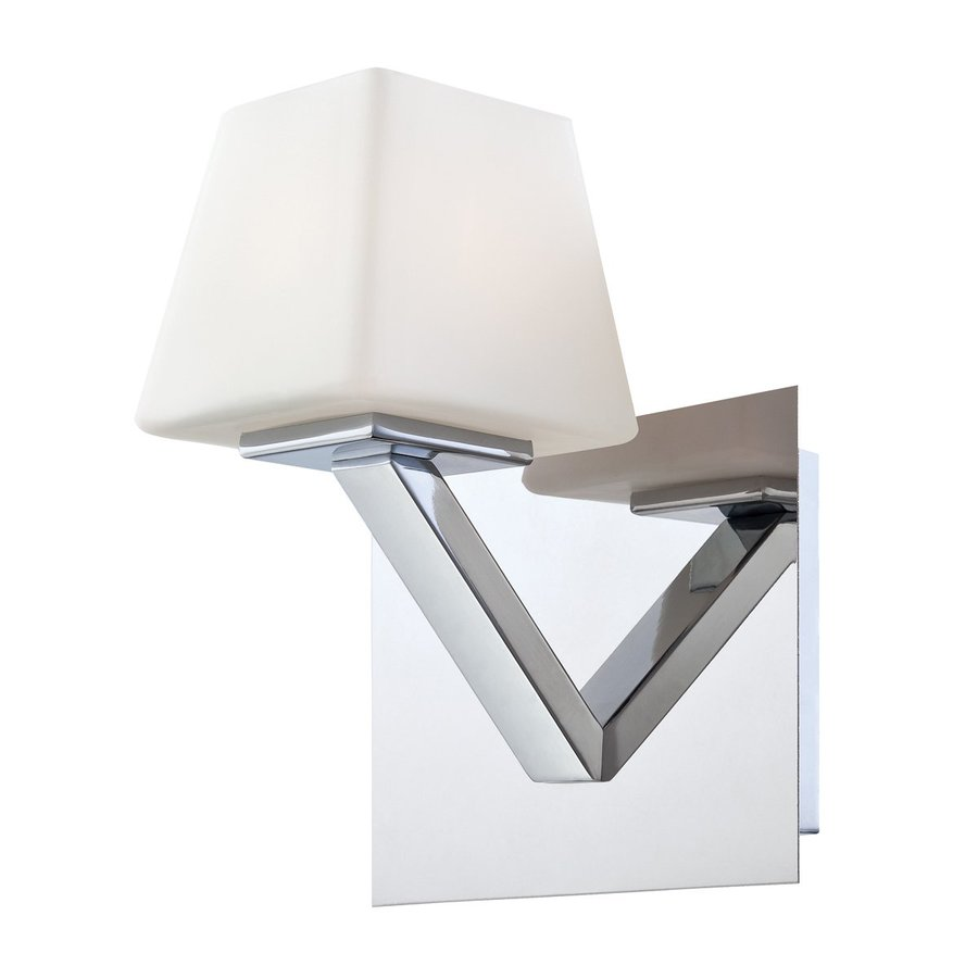 Eurofase Anglo 7-in W 1-Light Chrome Arm Hardwired Wall Sconce