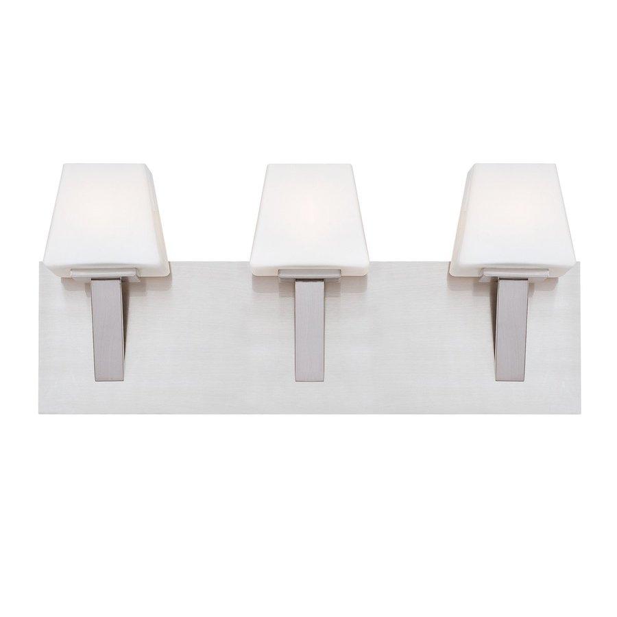 Eurofase 3-Light Anglo Satin Nickel Standard Bathroom Vanity Light