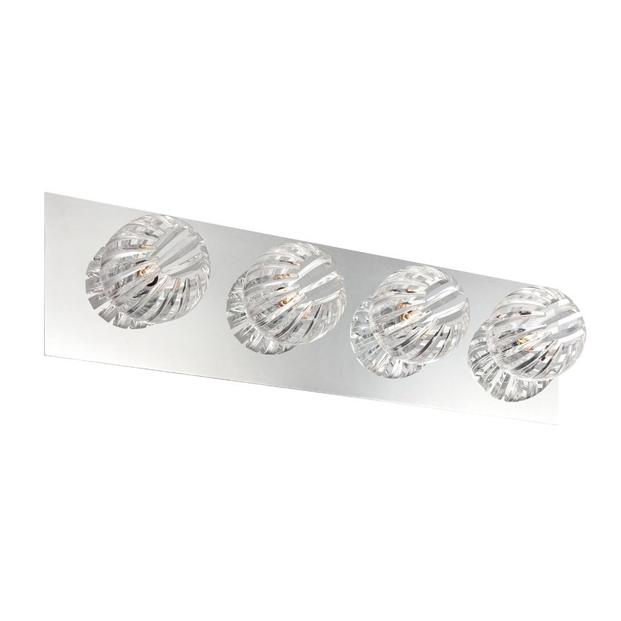 Eurofase 4-Light Cosmo Chrome Bathroom Vanity Light