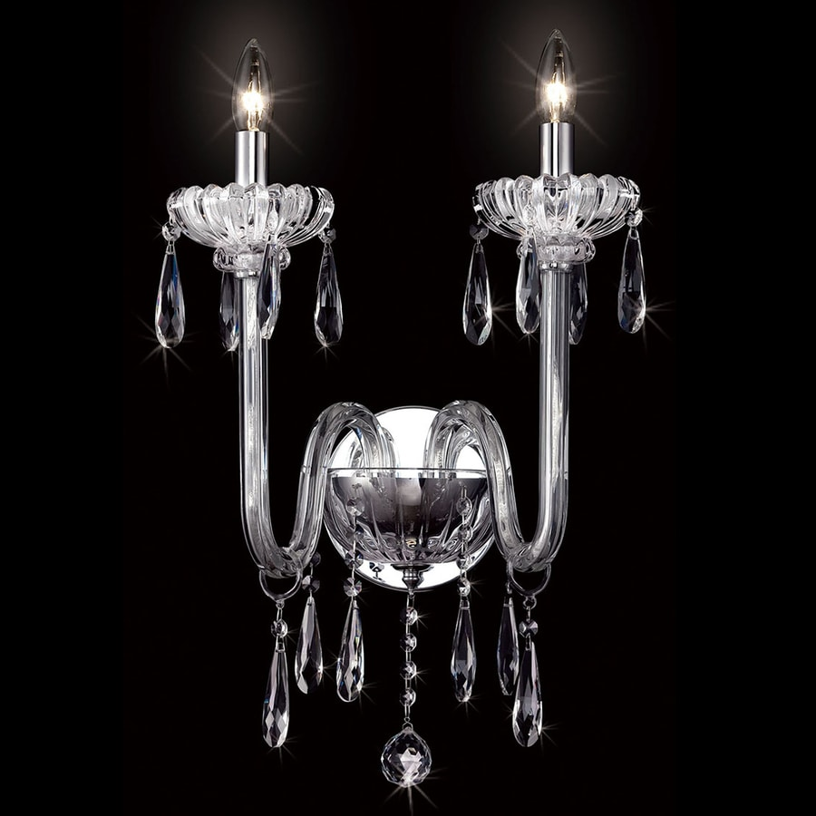 Eurofase Villa 17-in W 3-Light Chrome Candle Hardwired Wall Sconce