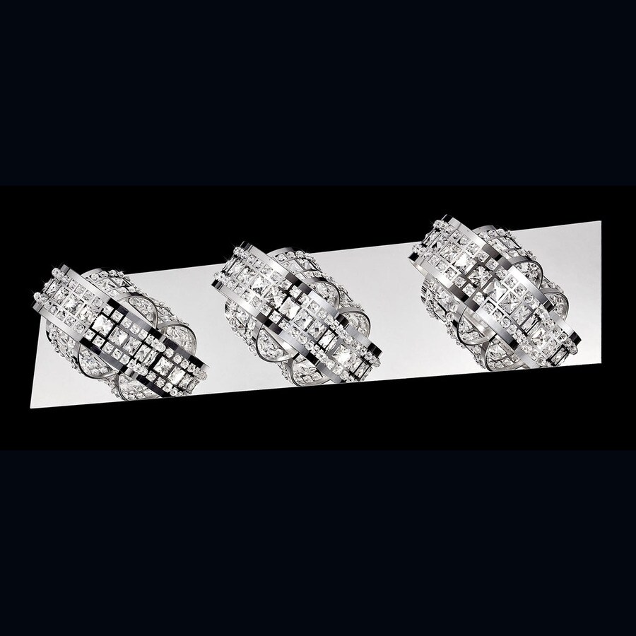 Shop Eurofase 3-Light Yorkville Chrome Crystal Accent Bathroom Vanity Light at Lowes.com