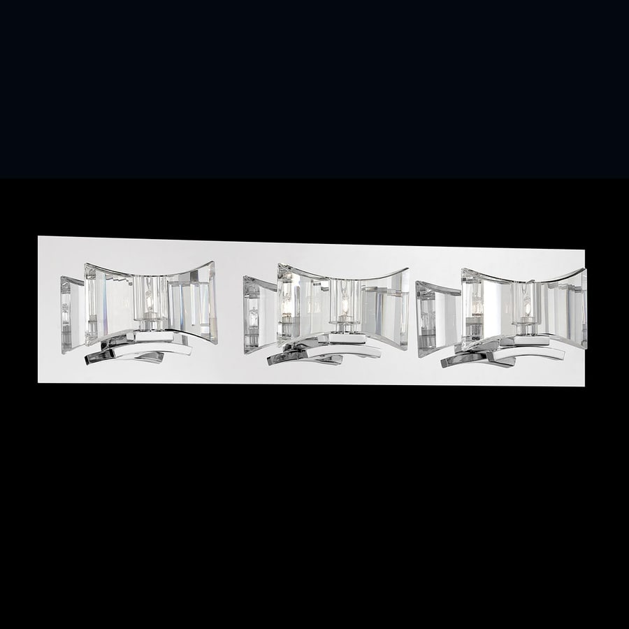 Shop Eurofase 3-Light Uzo Chrome Crystal Accent Bathroom Vanity Light at Lowes.com