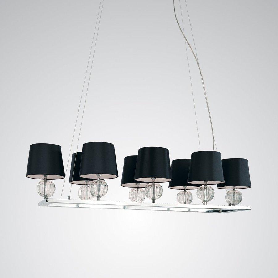 Eurofase Speranza 15.75-in W 8-Light Chrome Kitchen Island Light with Fabric Shade