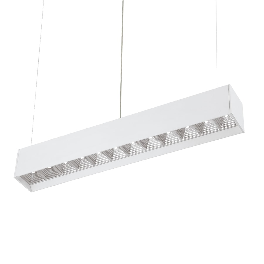 Eurofase 3.3-in W Aluminum LED Kitchen Island Light with White Shade