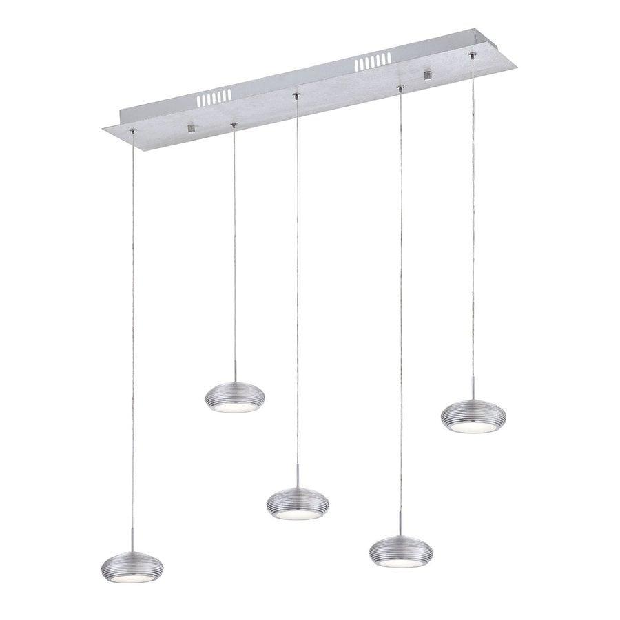 Eurofase Venti 7.25-in W 5-Light LED Kitchen Island Light with Aluminum Shades