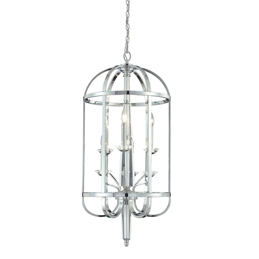 Eurofase Senze 18-in Chrome Industrial Cage Pendant