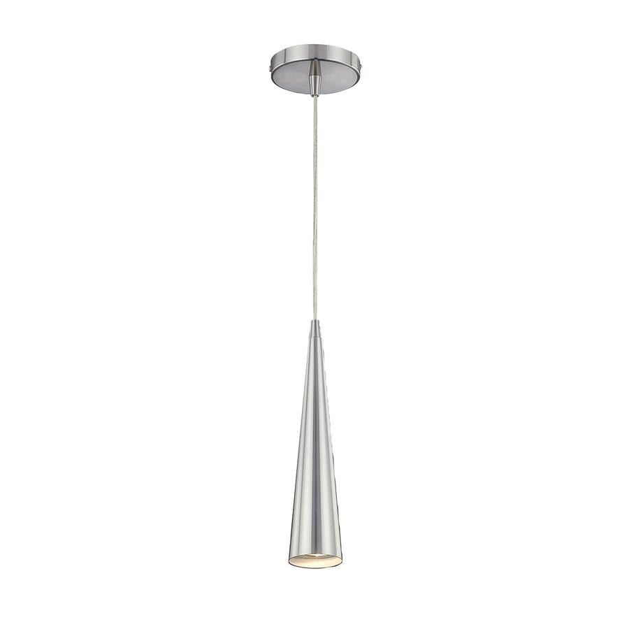Eurofase Sliver 2.75-in Satin Nickel Industrial Mini Cone Pendant