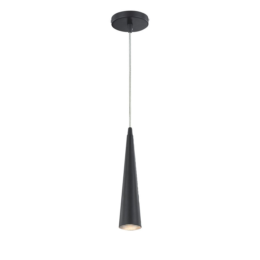 Eurofase Sliver 2.75-in Black Industrial Mini Cone Pendant