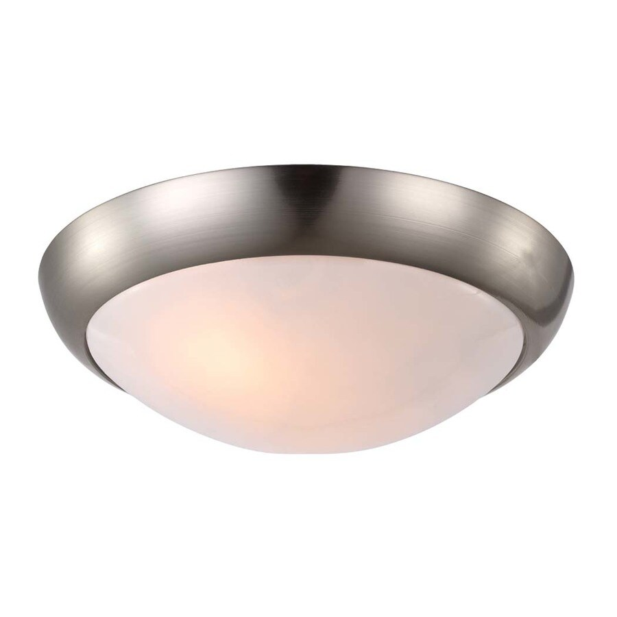 Monte Carlo Fan Company Hugger 3-Light Brushed Steel Incandescent Ceiling Fan Light Kit with Frosted Glass