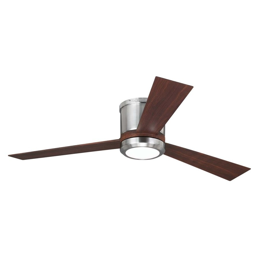 Shop Monte Carlo Fan Company Clarity 52 In Brushed Steel