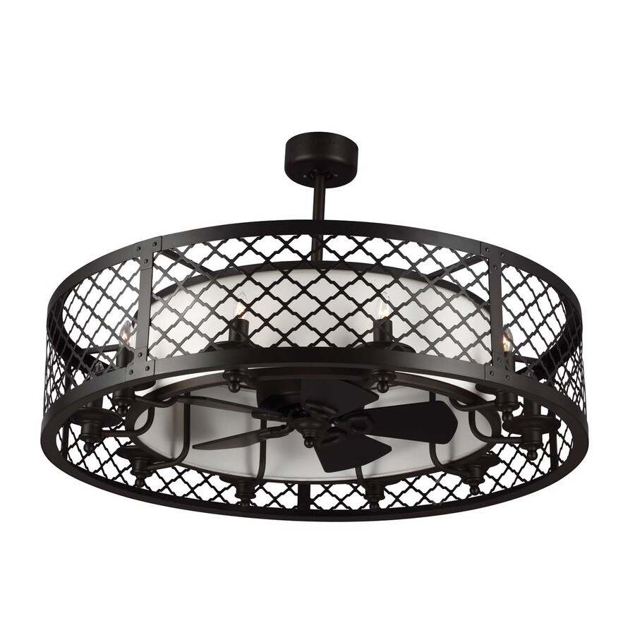 Monte Carlo Fan Company Brighton Court 20-in Oil Rubbed Bronze Downrod Mount Indoor Ceiling Fan with Light Kit and Remote Control