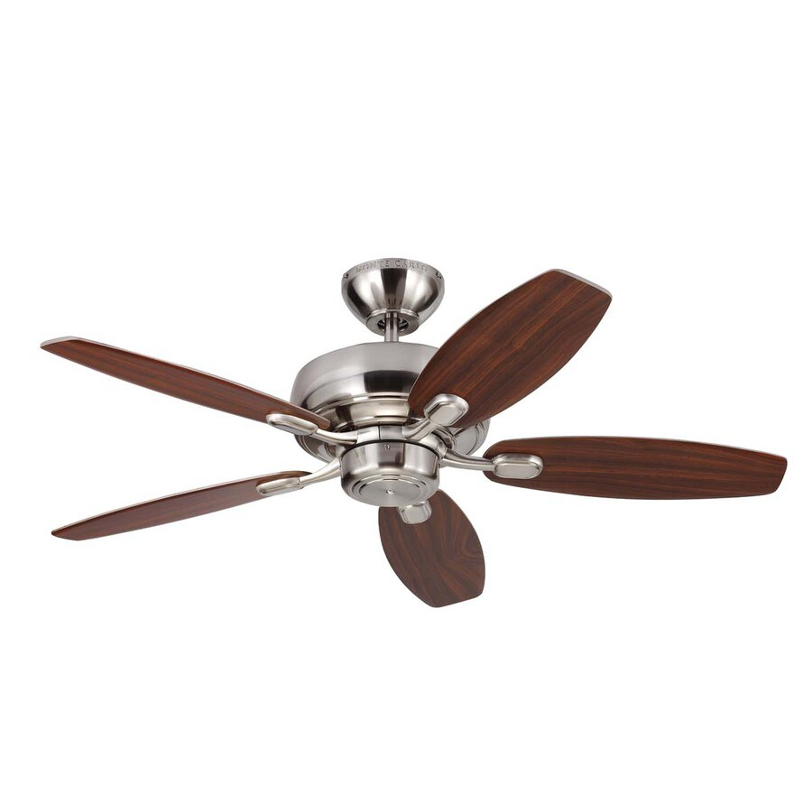 Monte Carlo Fan Company Centro Max Ii 44-in Brushed Steel Downrod or Close Mount Indoor Ceiling Fan (5-Blade)
