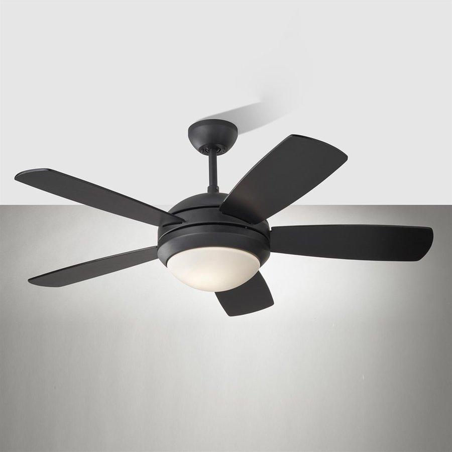Shop monte carlo fan company discus ii 44 in matte black for Ceiling fan companies