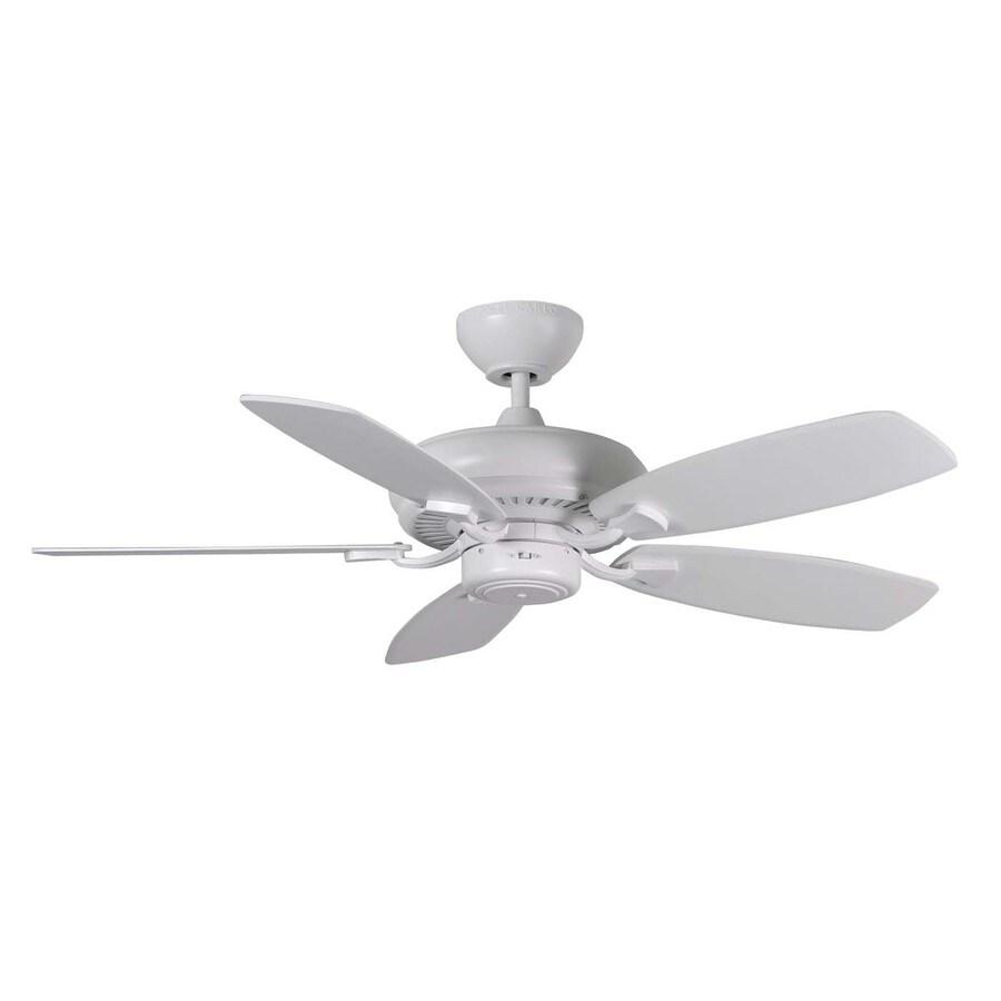 Monte Carlo Fan Company Designer Max Ii 44-in Rubberized White Downrod Mount Indoor Ceiling Fan (5-Blade)