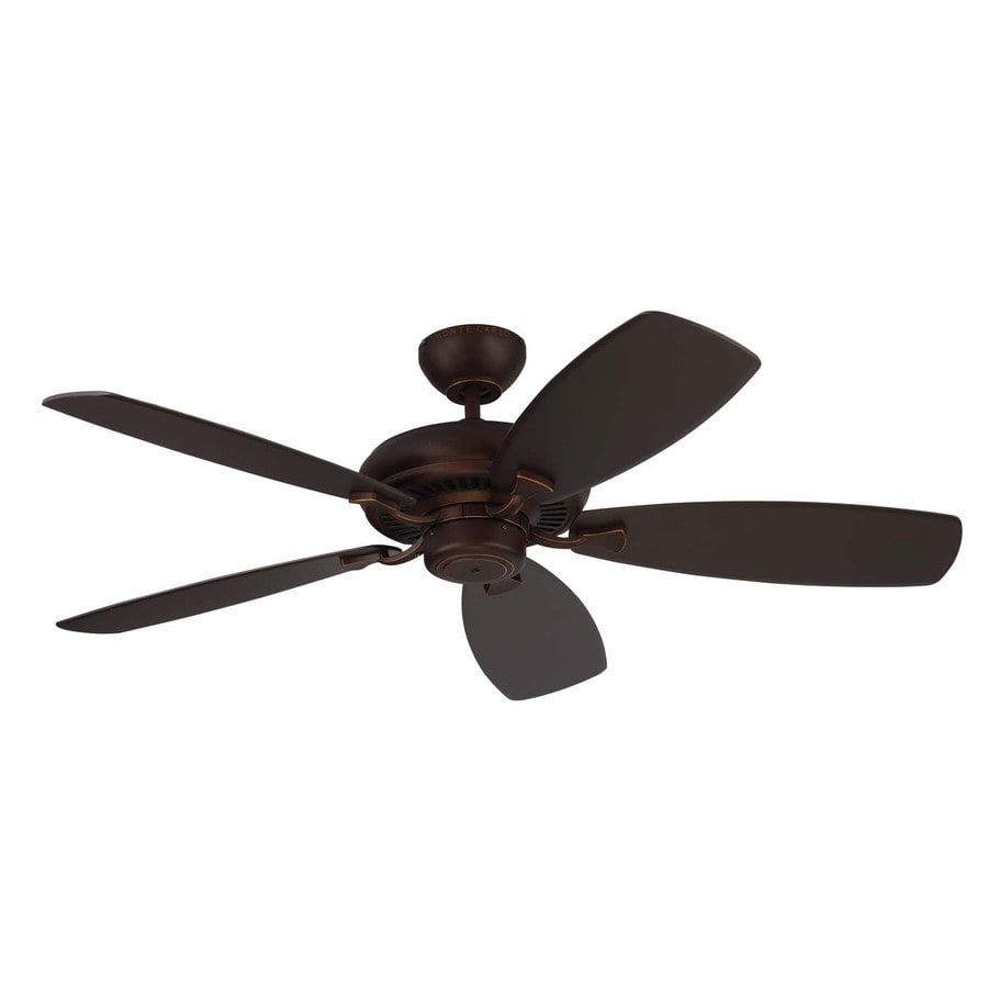 Monte Carlo Fan Company Designer Max 52-in Roman Bronze Downrod or Close Mount Indoor Ceiling Fan (5-Blade) ENERGY STAR