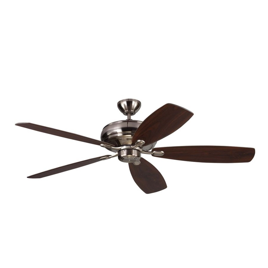 Monte Carlo Fan Company Embassy Max 60-in Brushed Steel Downrod Mount Indoor Ceiling Fan (5-Blade) ENERGY STAR
