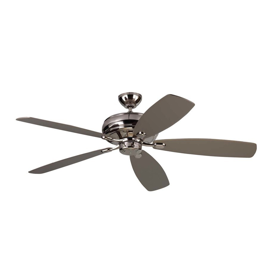 Monte Carlo Fan Company Embassy Max 60-in Polished Nickel Downrod Mount Indoor Ceiling Fan (5-Blade) ENERGY STAR