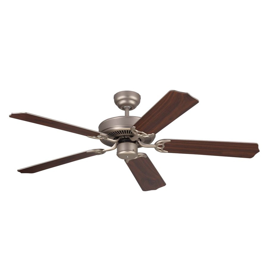 Monte Carlo Fan Company Homeowner Max 52-in Brushed Pewter Downrod or Close Mount Indoor Ceiling Fan (5-Blade) ENERGY STAR