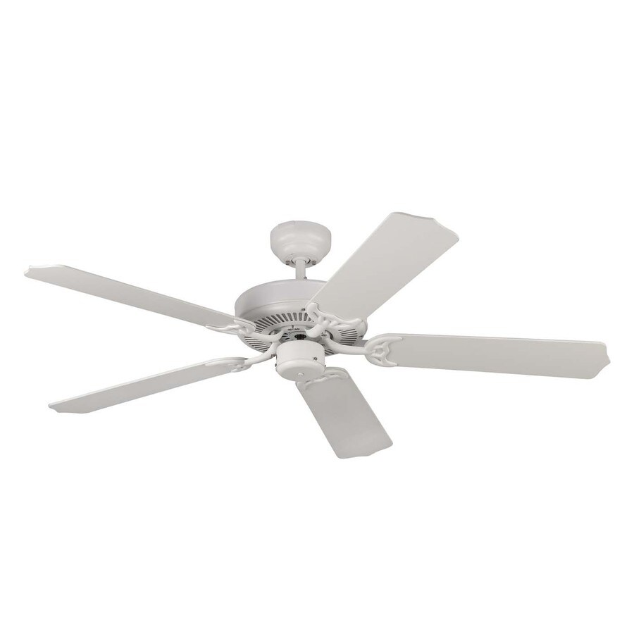 Monte Carlo Fan Company Homeowner Max 52-in Rubberized White Downrod or Close Mount Indoor Ceiling Fan (5-Blade) ENERGY STAR